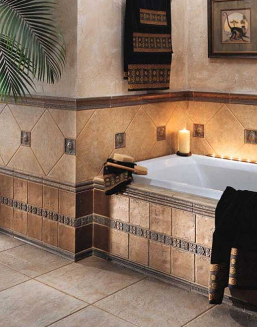 Popular 40 Beige Stone Bathroom Tiles Ideas And Pictures