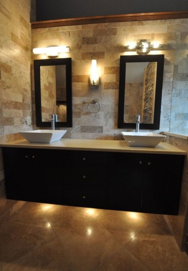 Innovative 40 Beige Stone Bathroom Tiles Ideas And Pictures