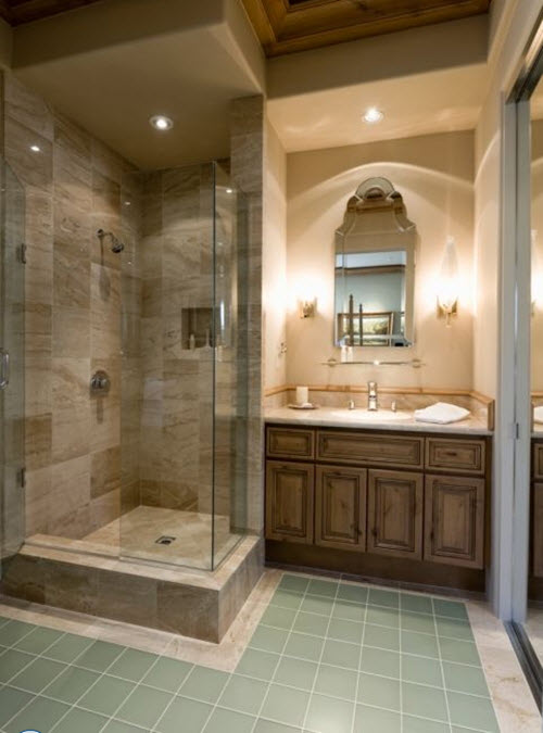Original 40 Beige Stone Bathroom Tiles Ideas And Pictures