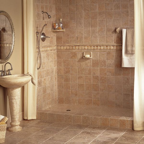 Bathroom Tile Ideas: 40 Beige Stone Bathroom Tiles Ideas And Pictures