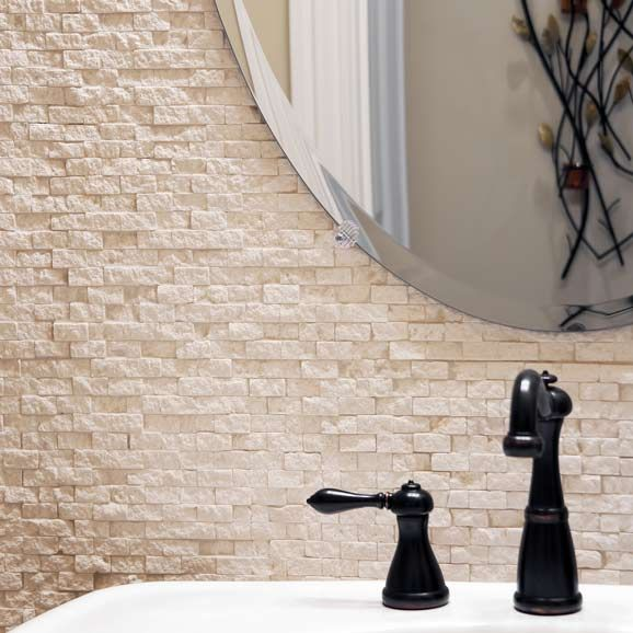 Brilliant 40 Beige Stone Bathroom Tiles Ideas And Pictures