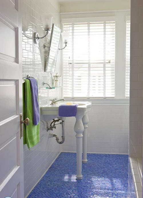 Bathroom Floor Tiles Blue : Blue bathroom floor tile ideas and pictures
