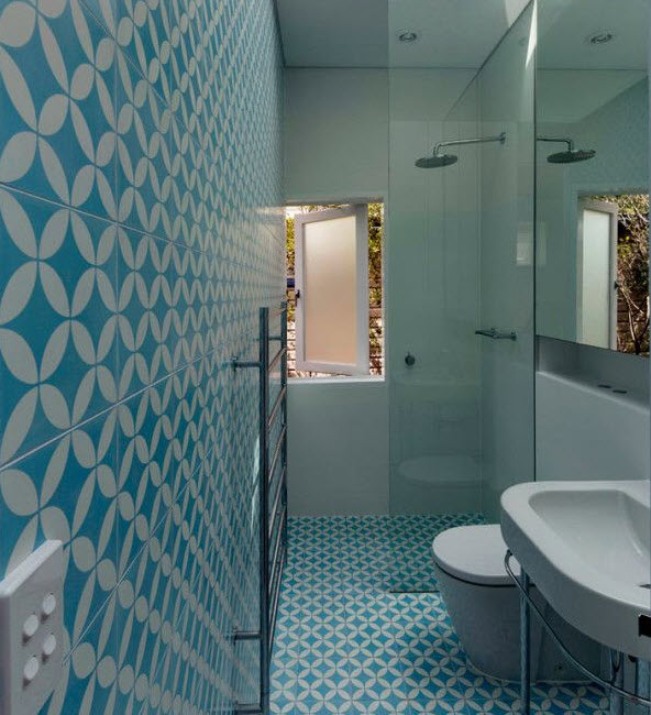 Wonderful Blue Bathroom Floor Tiles  Home Improvement