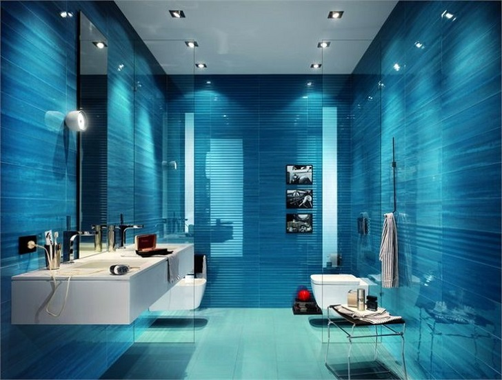 Bathroom Tiles Blue 40 blue bathroom wall tile ideas and pictures