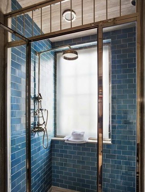 Unique 38 Dark Blue Bathroom Wall Tiles Ideas And Pictures
