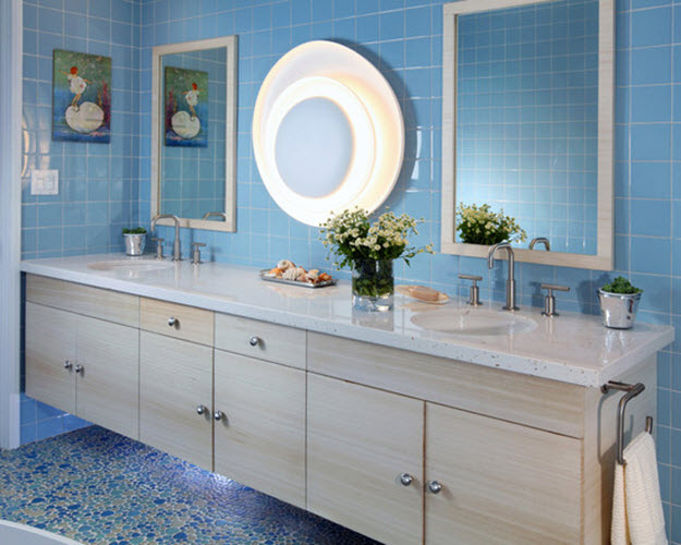 36 Blue Ceramic Floor Tile For Bathroom Ideas And Pictures