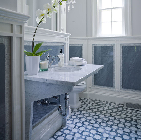 blue and white bathroom floor tiles 36 blue ceramic floor tile for bathroom ideas and pictures 25165