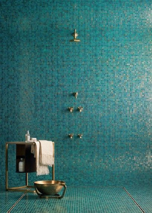 Perfect 40 Blue Mosaic Bathroom Tiles Ideas And Pictures