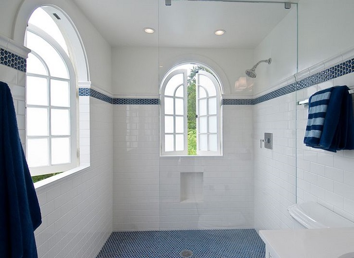 Wonderful 40 Blue Glass Mosaic Bathroom Tiles Tile Ideas And Pictures