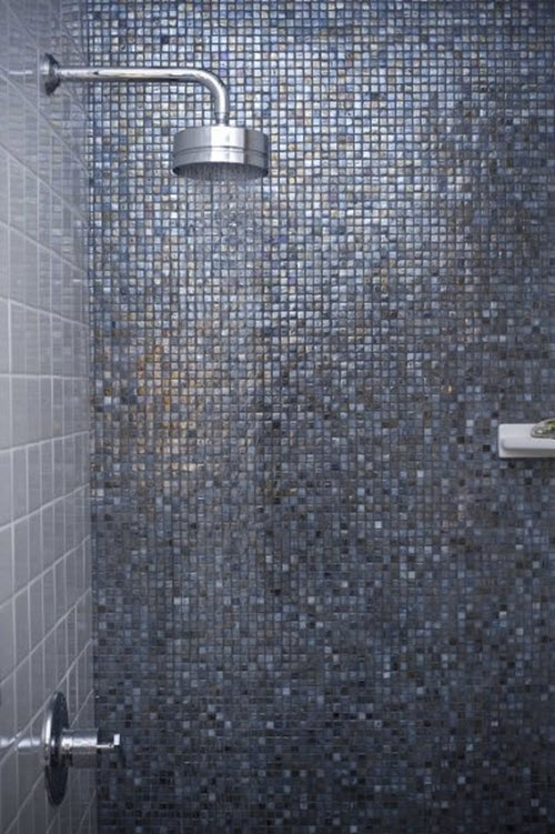 40 Blue Glass Mosaic Bathroom Tiles Tile Ideas And Pictures