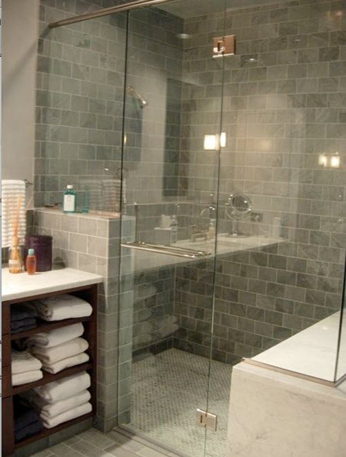 Nice Grey Bathroom Tiles : Blue gray bathroom tile ideas and pictures