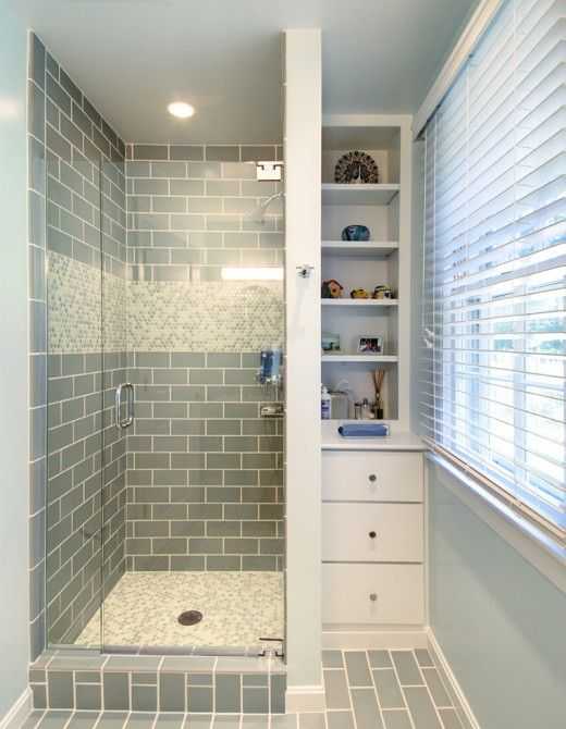 35 blue gray bathroom tile ideas and pictures for Tiny bathroom tile ideas