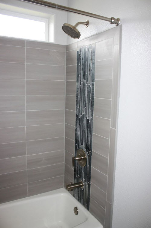 Model  Tile Idea Subway Tile Bathroom Idea Grey Tile Traditional Bathroom