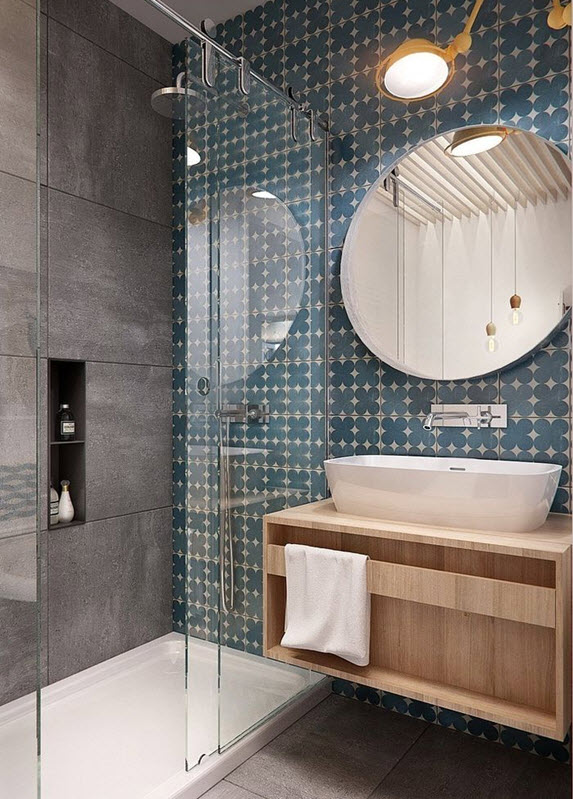 Innovative 35 Blue Grey Bathroom Tiles Ideas And Pictures