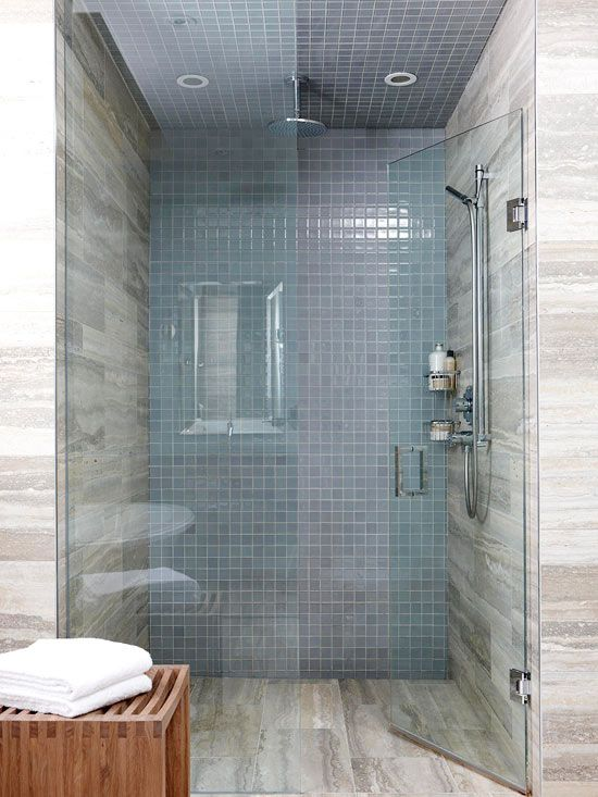 Popular Bathrooms White Tile Blue Gray Updated Bathroom Pictures To Pin On