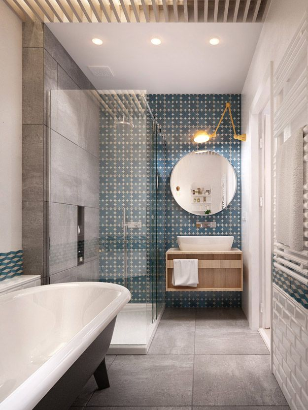 35 Blue Grey Bathroom Tiles Ideas And Pictures 2019