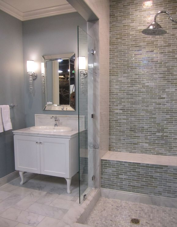Innovative Were Planning Our Bathroom Renovation  The Other Has A Stonelike Print In A Mix Of Light Gray, Beige And Blue This Is A Photo Of The Samples Of The Tiles And The