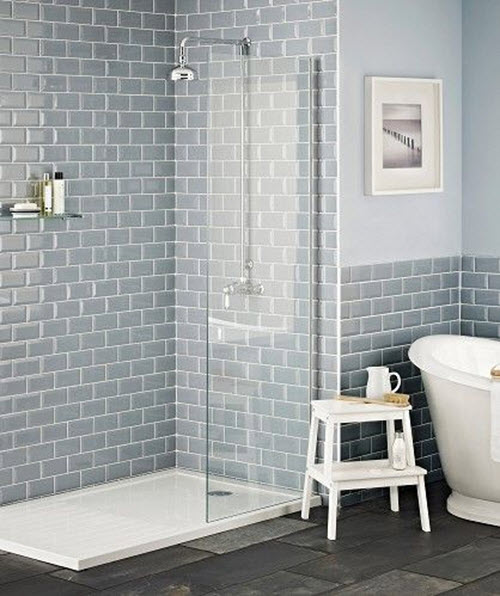 Blue Bathroom Tile Ideas: 35 Blue Grey Bathroom Tiles Ideas And Pictures