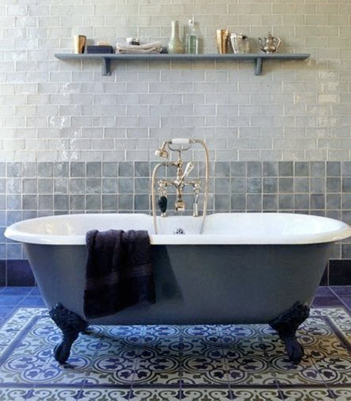 Lastest Gray And BLue Bathroom Ideas  Contemporary  Bathroom  Mabley