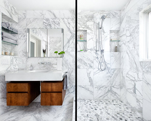 Unique Blue Marble Bathroom