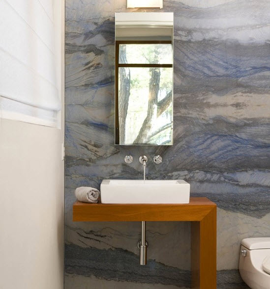 Blue Marble Bathroom Sink