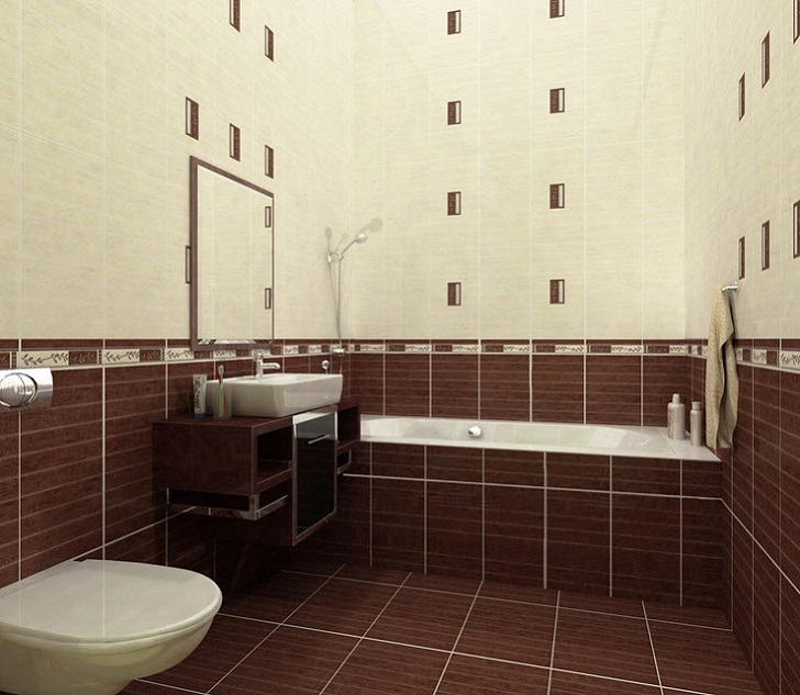 40 brown bathroom floor tiles ideas and pictures for Brown tile bathroom ideas