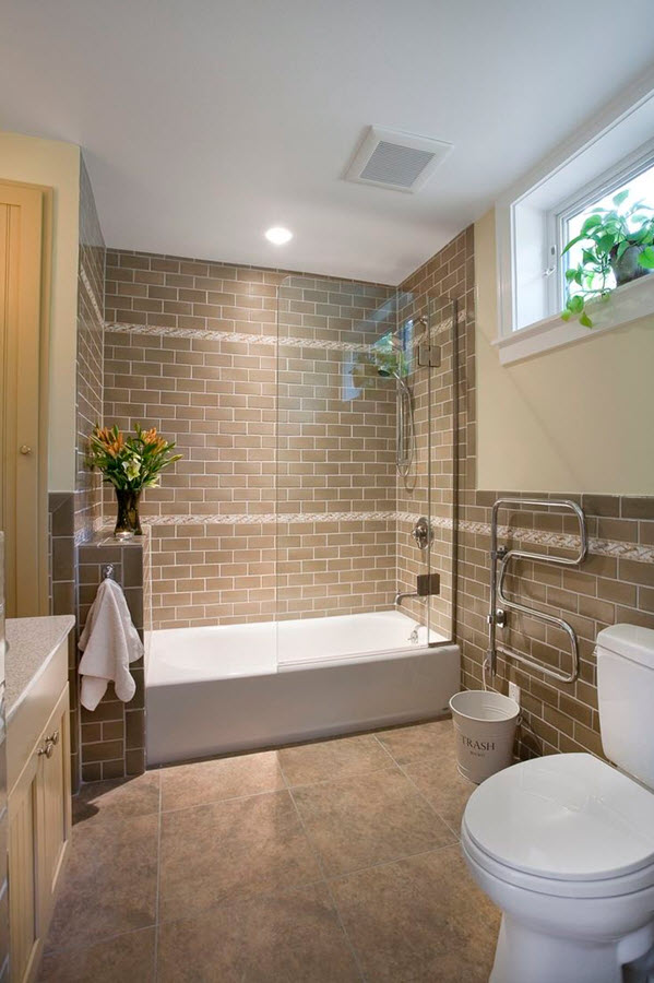 Lastest 40 Brown Bathroom Floor Tiles Ideas And Pictures
