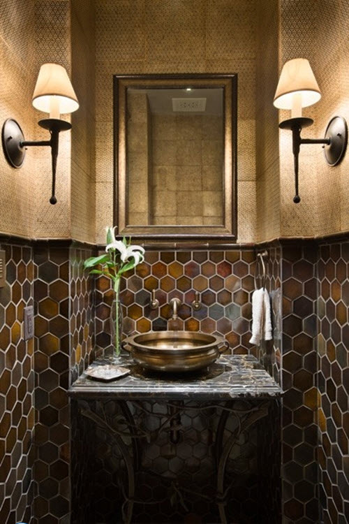 40 Brown Bathroom Wall Tiles Ideas And Pictures 2019