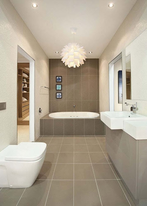 21 fantastic bathroom design brown tiles for Brown tile bathroom ideas