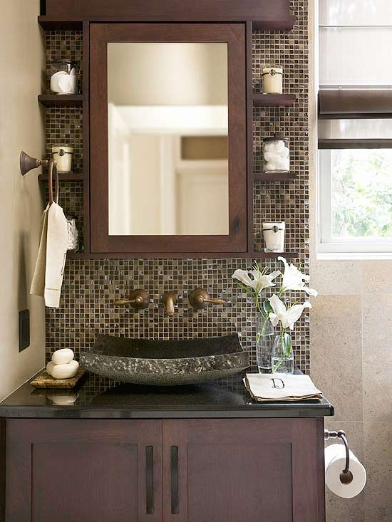 Bathroom Ideas Mosaic brown mosaic bathroom tiles ideas and pictures