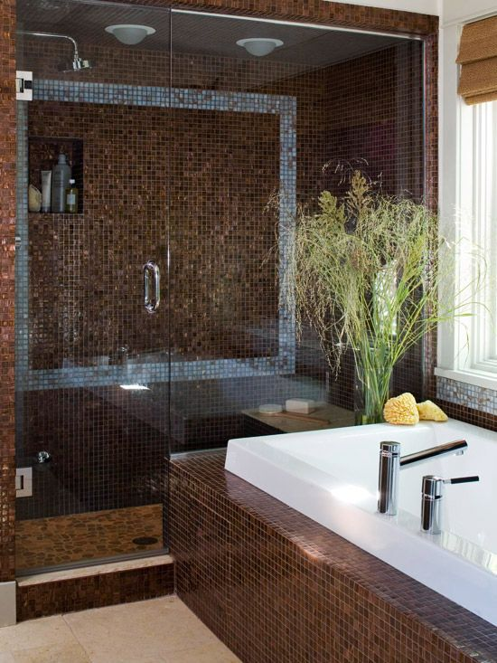 Wonderful  Of Great Ideas For Using Chocolate Brown Tile In Your Bathroom Enjoy