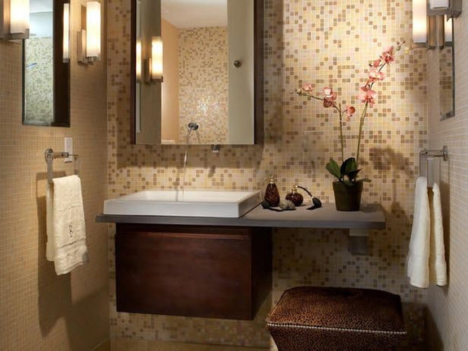 40 Brown Mosaic Bathroom Tiles Ideas And Pictures 2019