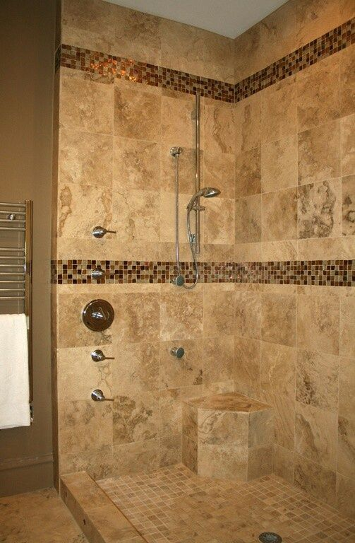 40 brown mosaic bathroom tiles ideas and pictures Mosaic tile designs for shower