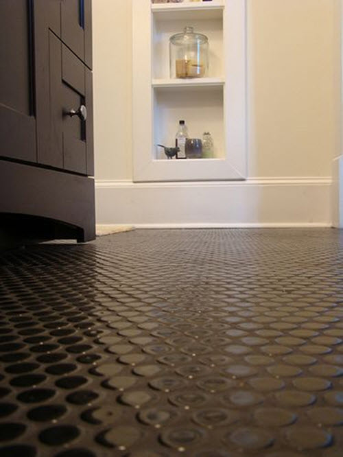Chocolate Brown Bathroom Floor Tiles 3 4