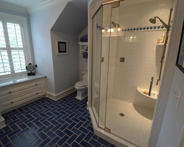 cobalt blue bathroom tile 35 cobalt blue bathroom floor tiles ideas and pictures 17787