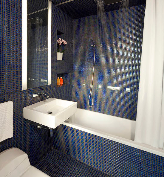 Small Shower Room Ideas >> 35 cobalt blue bathroom floor tiles ideas and pictures