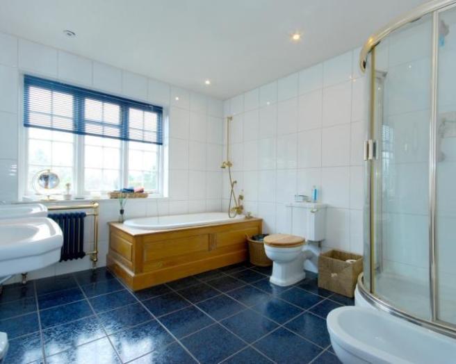 35 cobalt blue bathroom floor tiles ideas and pictures - Floor tile ideas for bathroom ...
