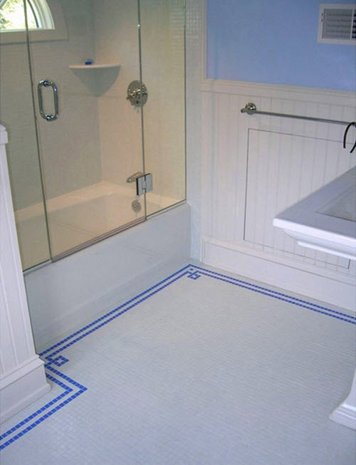 Cobalt Blue Bathroom Floor Tiles Ideas And Pictures