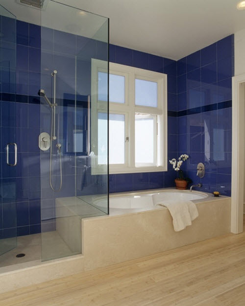 Unique Premium Quality Cobalt Blue 3x6 Glass Subway Tile For Bathroom Walls