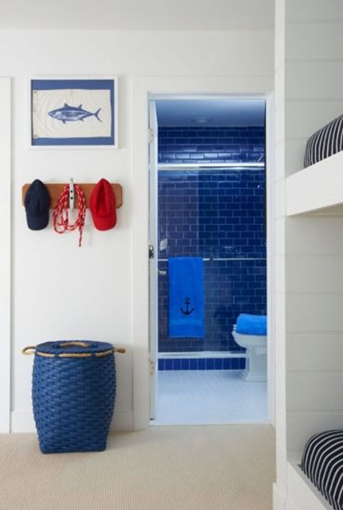 Popular 35 Cobalt Blue Bathroom Floor Tiles Ideas And Pictures