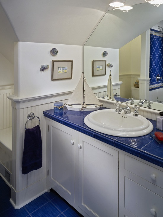 Amazing 35 Cobalt Blue Bathroom Tile Ideas And Pictures