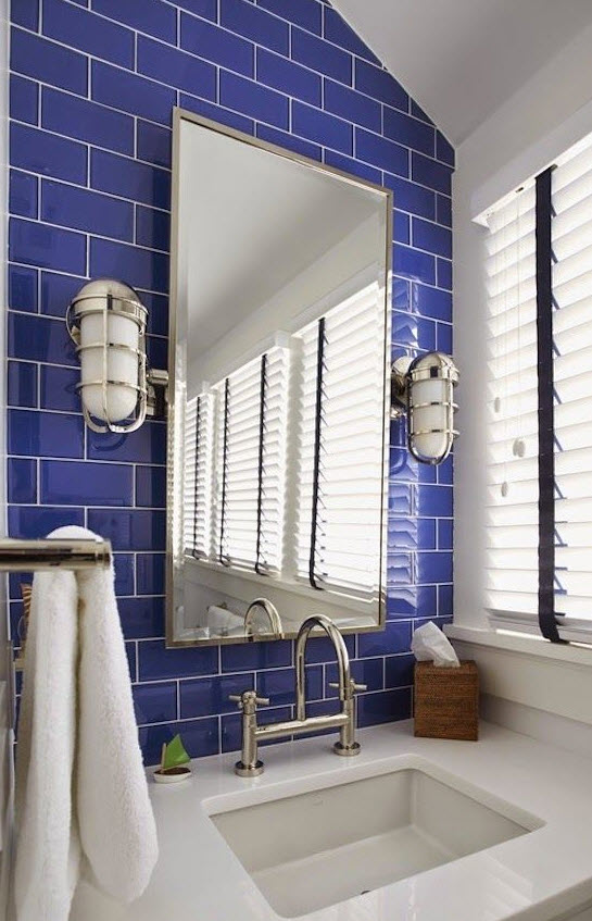 35 Cobalt Blue Bathroom Tile Ideas And Pictures 2019