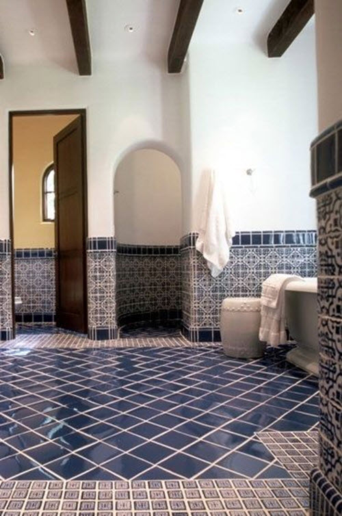 37 Dark Blue Bathroom Floor Tiles Ideas And Pictures 2019