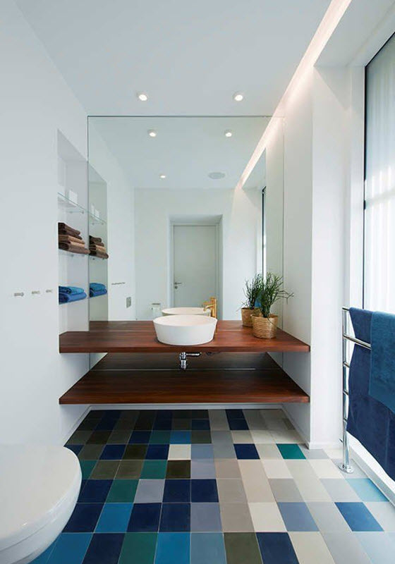 Bathroom Floor Tiles Blue : Dark blue bathroom floor tiles ideas and pictures