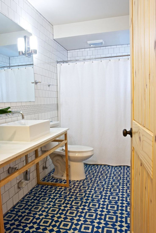 Blue Bathroom Tiles Image