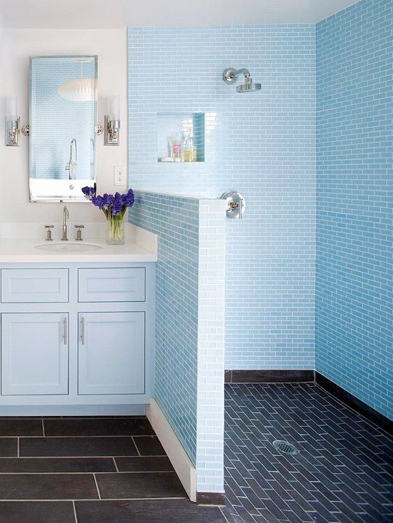 Innovative Home Blue Bathroom Floor Tile Blue Bathroom Floor Tile  Blue Tile