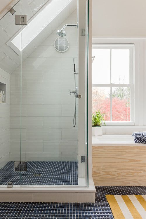 Blue Bathroom With Tile Floor: 37 Dark Blue Bathroom Floor Tiles Ideas And Pictures