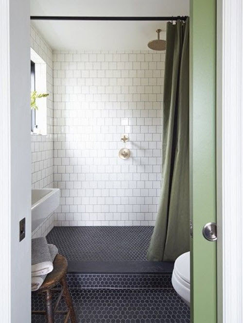 37 dark blue bathroom floor tiles ideas and pictures
