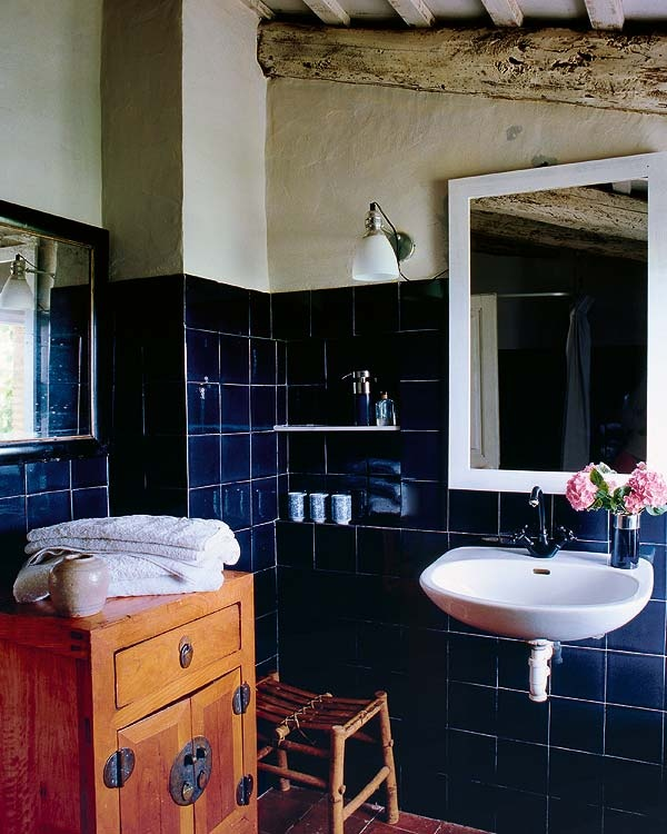 38 Dark Blue Bathroom Wall Tiles Ideas And Pictures 2019