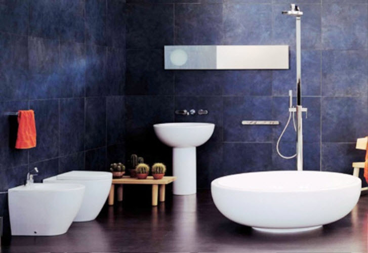 dark blue bathroom tiles 38 blue bathroom wall tiles ideas and pictures 18040